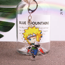 Load image into Gallery viewer, Anime Keychains Naruto Men Keychain Pendant Accessory Obito Deidara Uchiha Sasori Itachi Acrylic Cartoon KeyRing Jewelry Brelok