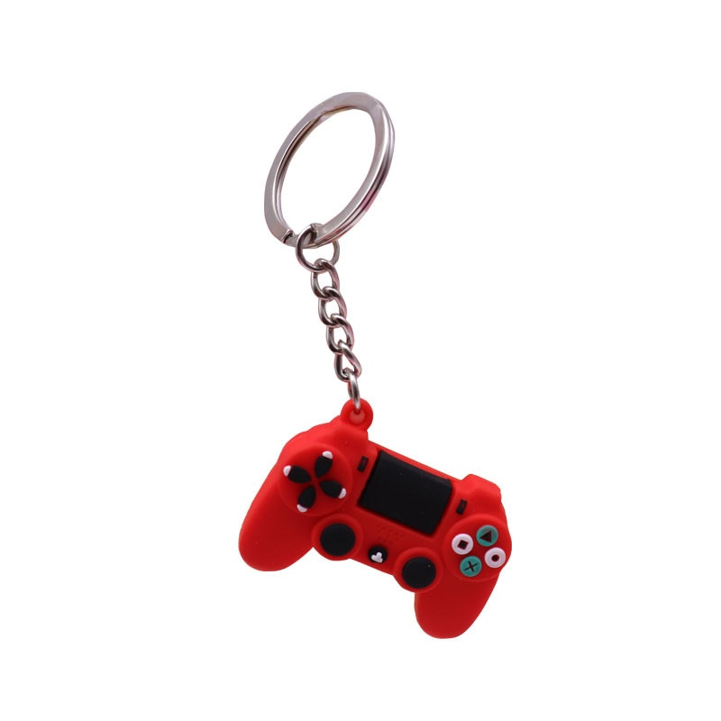 Men's Simple Video Game Handle Keychain Couple Joystick Machine KeyChain Keyring for Boyfriend Key Holder Trinket Gift Wholesale