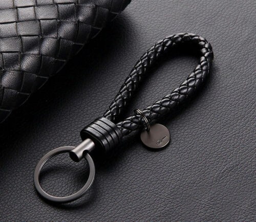 Vintage Retro Leather Rope Weave Braided Strap Keychain Keyring Car Key Chain Ring Key Fob Sling Jewelry Gift