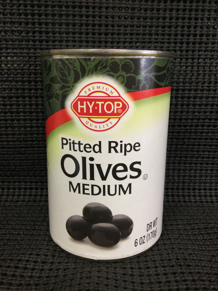 Hy Top Pitted Ripe Olives- medium