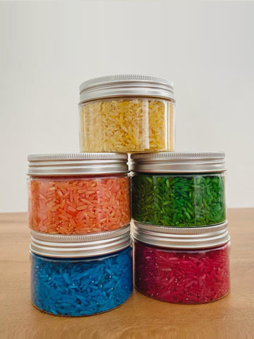 Coloured Rice - Primary Colours