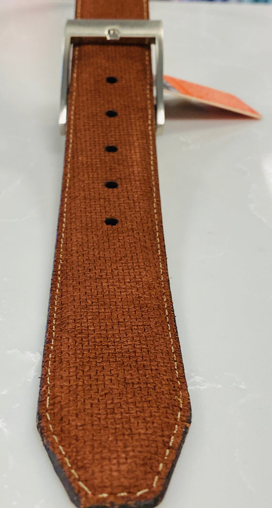 Suede Micro Print Belt Chili