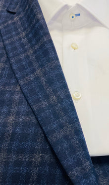 BLUE & GREY CHECK SPORTS JACKET