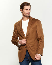 BROWN CASHMERE SPORT JACKET