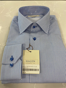 DRESS SHIRT IN LIGHT BLUE STRIPED
