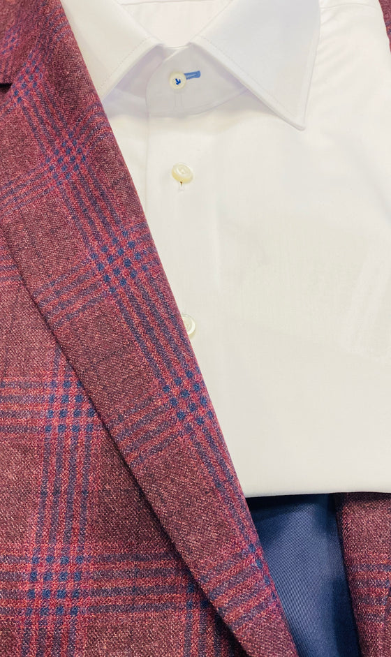 BERRY PLAID SPORT JACKET