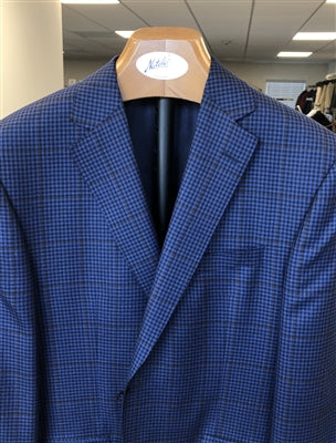 NAVY PLAID  SPORT JACKET