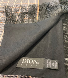 BLACK MIX ITALIAN SILK WITH WOOL CHALAIS SCRAF