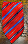 TALL REGIMENTAL STRIPED NECKTIE  RED