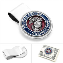 Enamel Marine Corps Money Clip