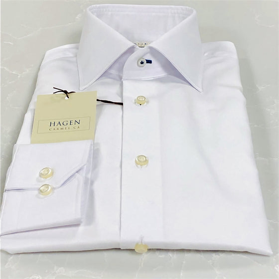 WHITE SUPER FINE TWILL DRESS SHIRT