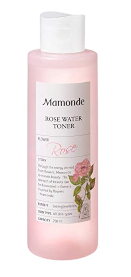 Mamonde Rose Water Toner Organic Damask Facial Rosewater 8.45 OZ