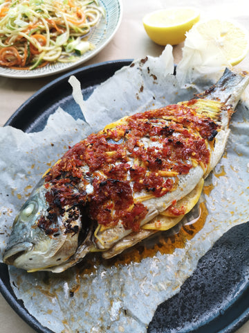 Baked Sea Bass With Vietnamese Chilli Sauce