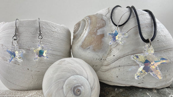 Swarovski Starfish Pendant with Earrings (Set)
