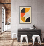 Load image into Gallery viewer, Graphic art print in modern industrial interior
