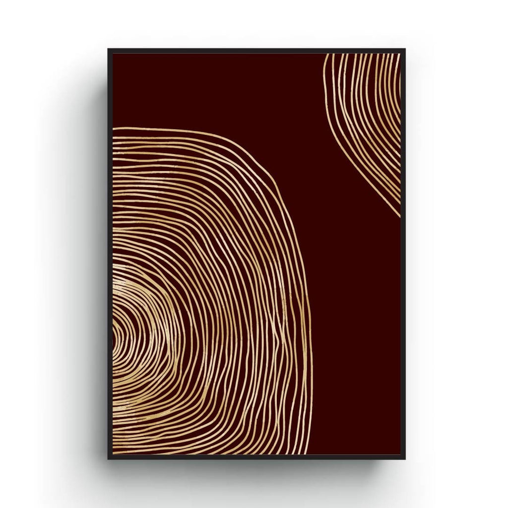 Minimalist Scandinavian Print Art, Golden Lines abstract poster