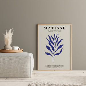 Matisse Inspired Leaves Blue