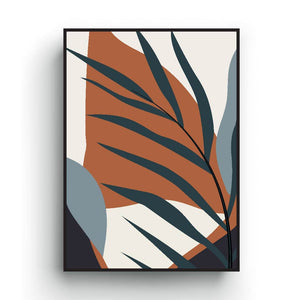 Palm tree print, minimalist Scandinavian poster, neutral earth tone colors