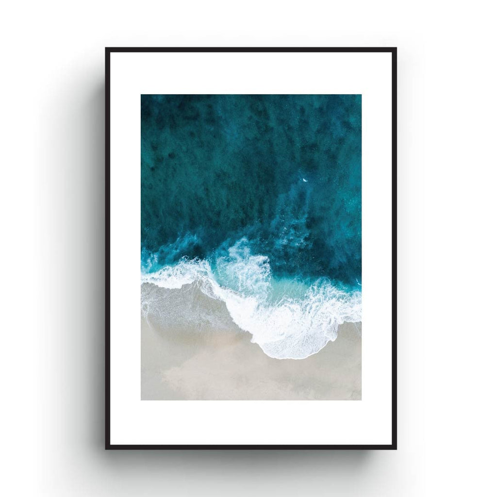 Sea poster, Blue waves print