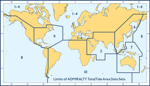 ADMIRALTY TotalTide (ATT) provides bridge crews with fast, accurate tidal height and tidal stream predictions for more than 7,000 ports and 3,000 tidal streams worldwide.  This global coverage, which is split across 10 areas, enables users to take advantage of the tides whilst reducing risk to crew, cargo and ships.