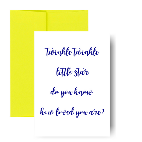 Twinkle twinkle little star Greeting Card