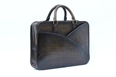 Hand-Patinated Briefcase (front)
