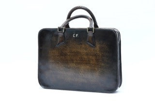 Hand-Patinated Briefcase (back)