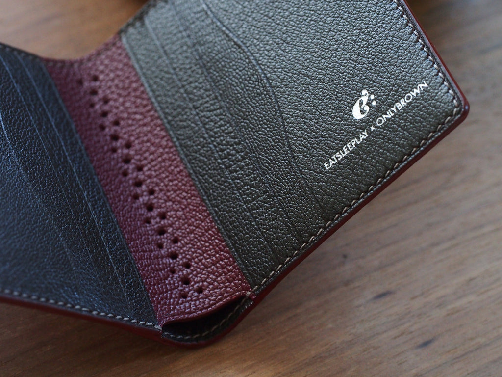 Short Wallet - Chèvre Bordeaux