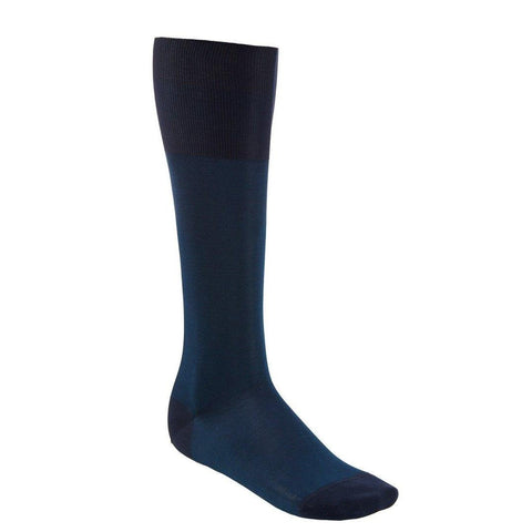 OTC Cotton Socks - Blue Birdseye-onlybrown