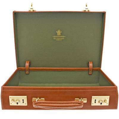 St. James Lid-Over Attaché Case - onlybrown