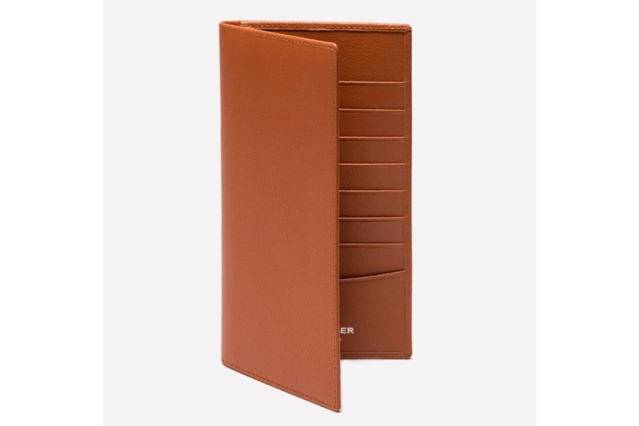Capra Coat Wallet - Tan
