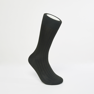 Two-Tone Ribbed Socks (Green/Gray)
