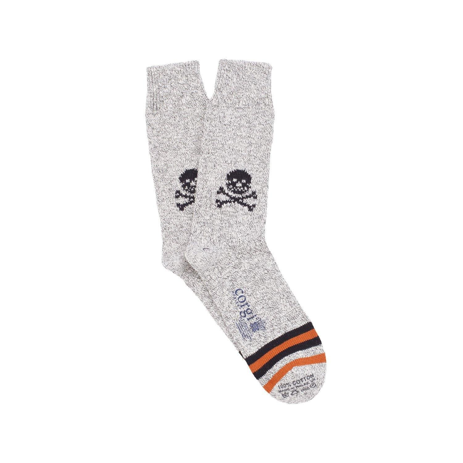 Skull & Crossbone Cotton Socks-onlybrown