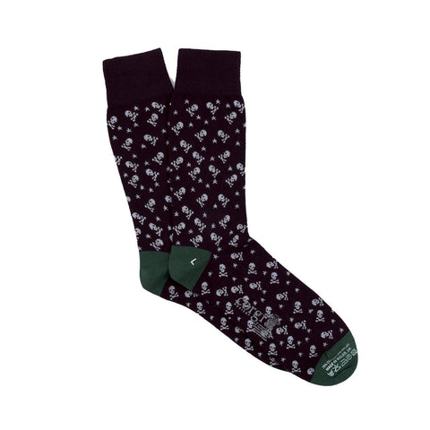 Skull & Star Lightweight Cotton Socks-onlybrown