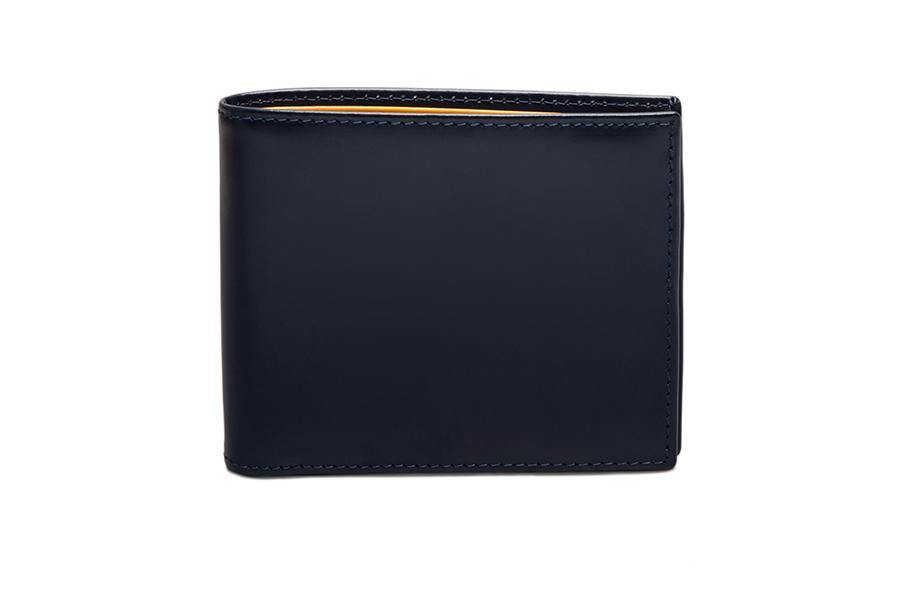 Bridle Hide Billfold - Navy (Personalisation)
