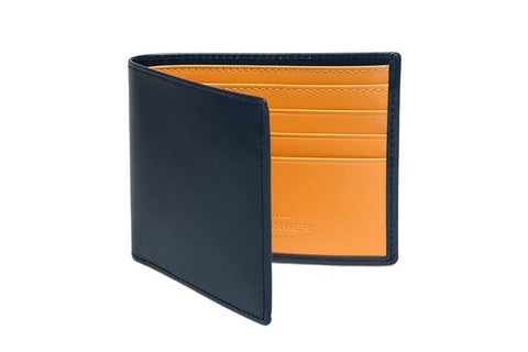 Bridle Hide Billfold - Petrol Blue (Personalisation)