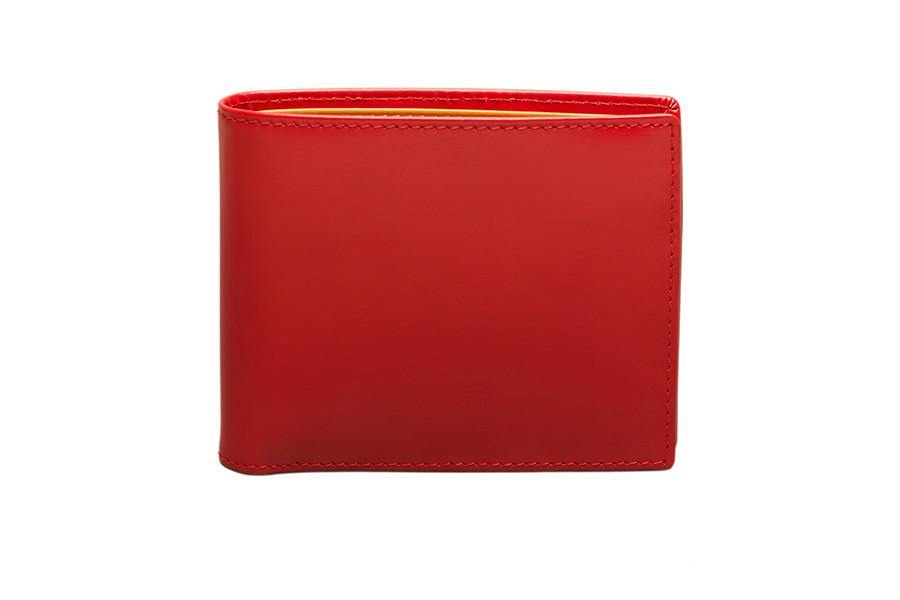 Bridle Hide Billfold - Red (Personalisation) - onlybrown