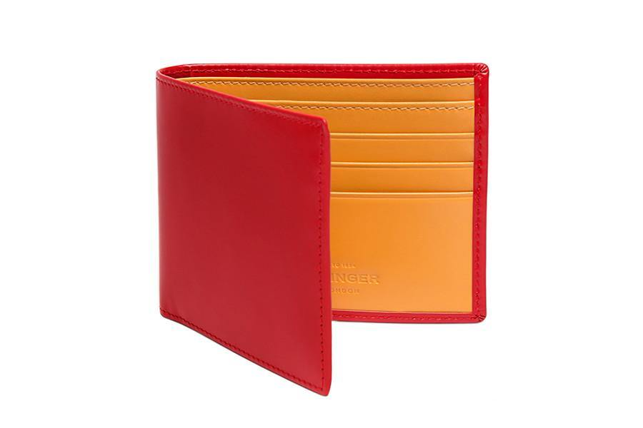 Bridle Hide Billfold - Red (Personalisation)