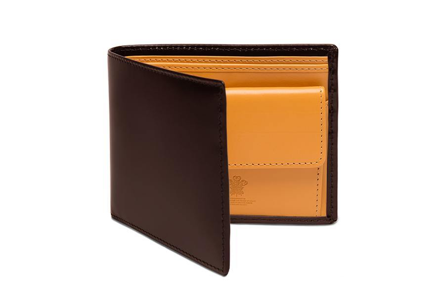 Bridle Hide Billfold With Coin Pocket - Nut (Personalisation)