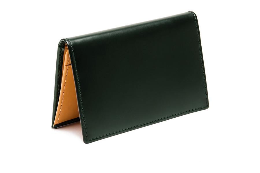 Bridle Visiting Card Case - Green (Personalisation)