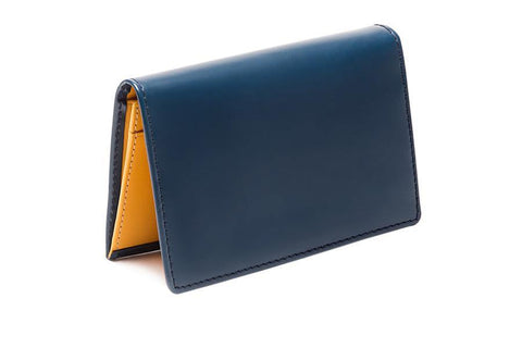 Bridle Visiting Card Case - Petrol Blue (Personalisation)