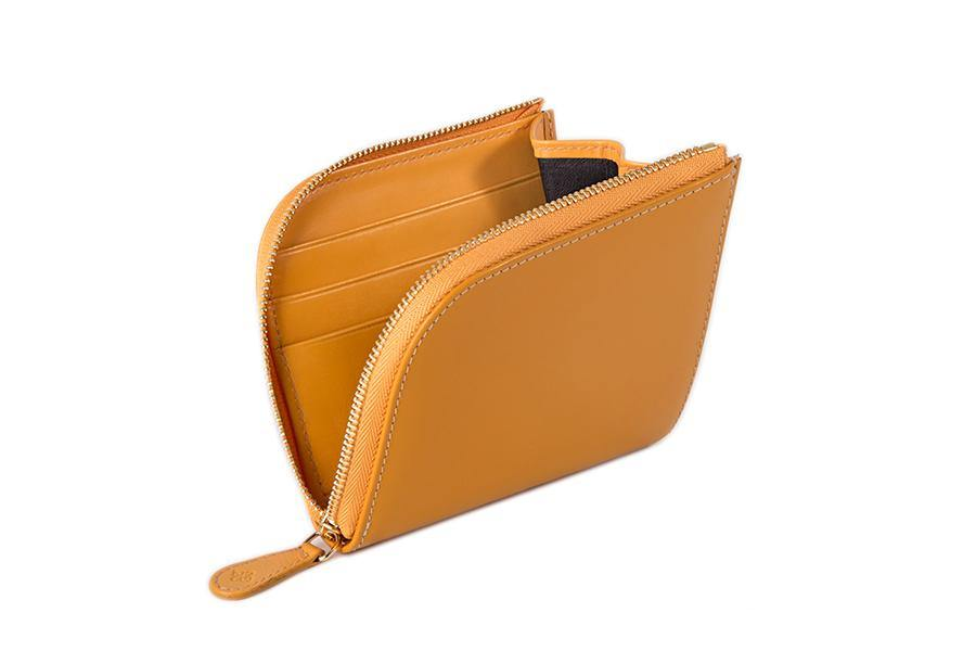 Bridle Zipped Curved Wallet - London Tan - onlybrown