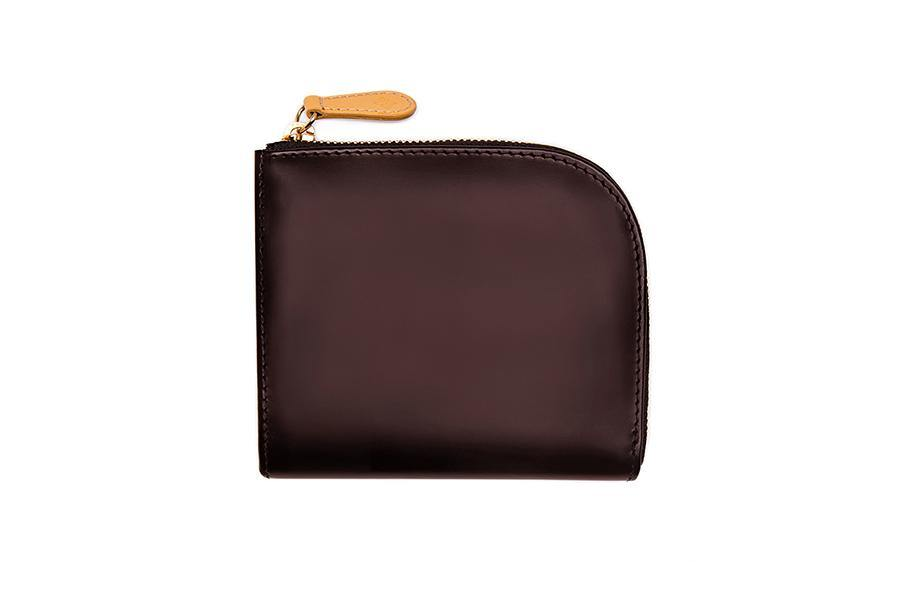 Bridle Zipped Curved Wallet - Nut