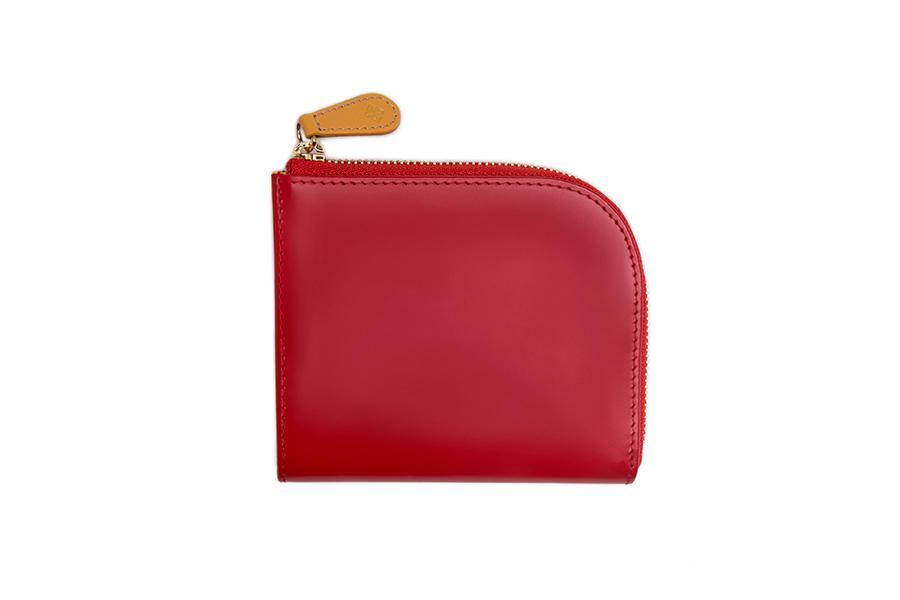 Bridle Zipped Curved Wallet - Red