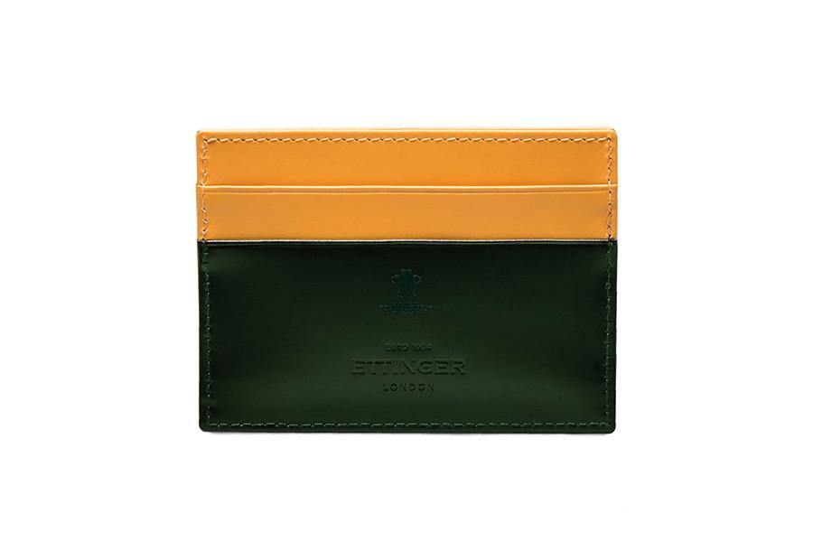 Bridle Hide Flat Card Case (Personalisation) - onlybrown