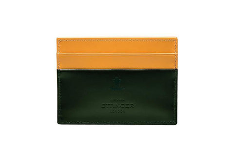 Bridle Hide Flat Card Case - Green