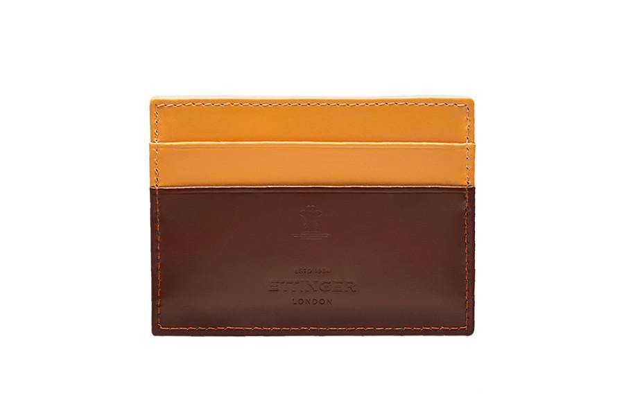 Bridle Hide Flat Card Case - Havana (Personalisation) - onlybrown