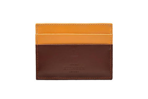 Bridle Hide Flat Card Case - Havana (Personalisation)