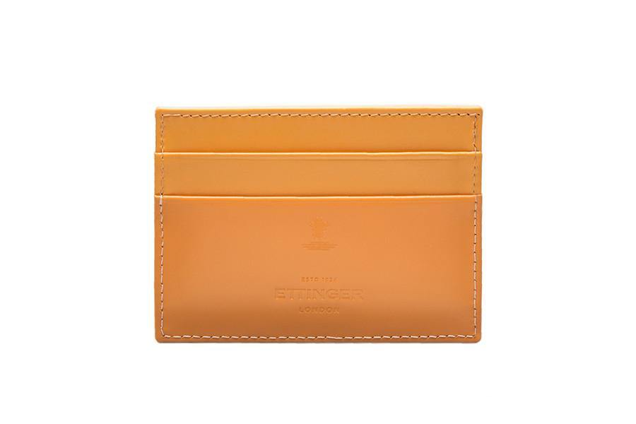 Bridle Hide Flat Card Case -London Tan (Personalisation) - onlybrown