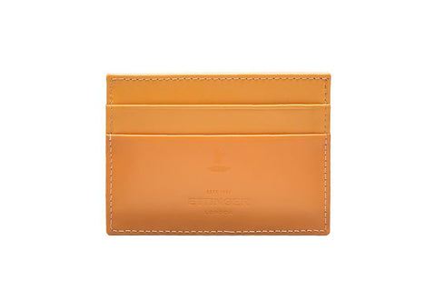 Bridle Hide Flat Card Case -London Tan (Personalisation)
